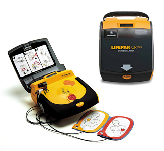Defibrillator saves football fan's life