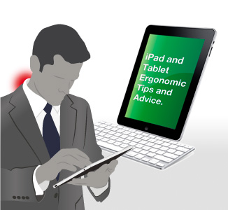 Illustration of man using an iPad