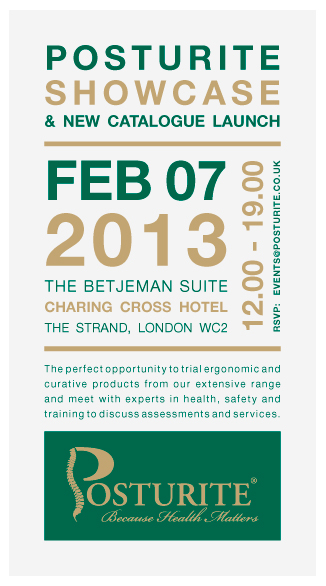 Big London showcase for Posturite's products and services