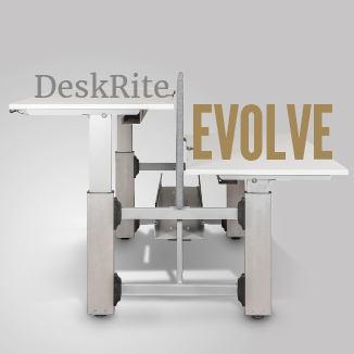 DeskRite Evolve – the new bench mark for height adjustable desking