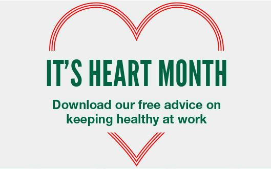 It's Heart Month! Keep your heart healthy with active working