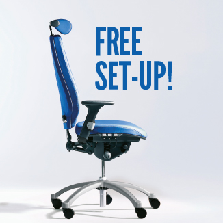 Did you know we offer FREE chair & desk set-up?