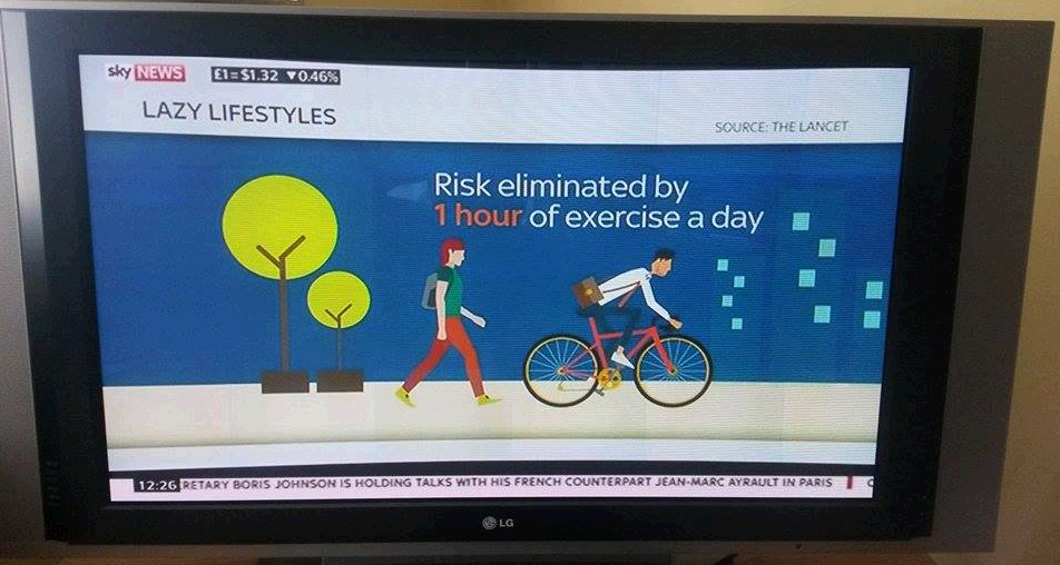 lancet study physical activiety sky news