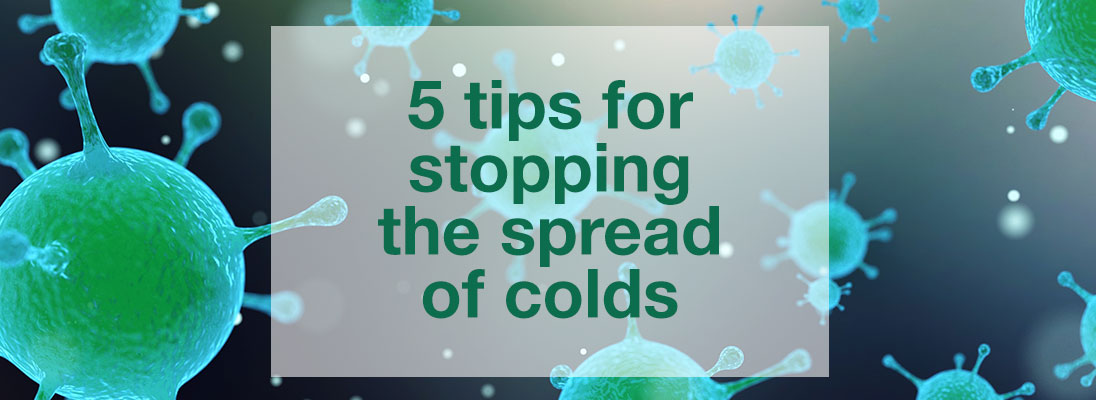 5 simple ways to stop colds spreading around the office
