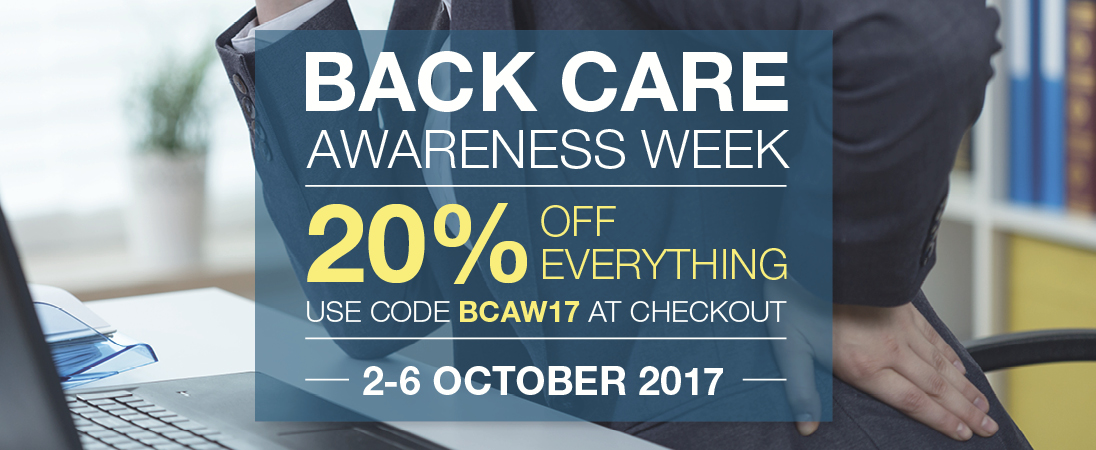 Get 20% off everything this Back Care Awareness Week
