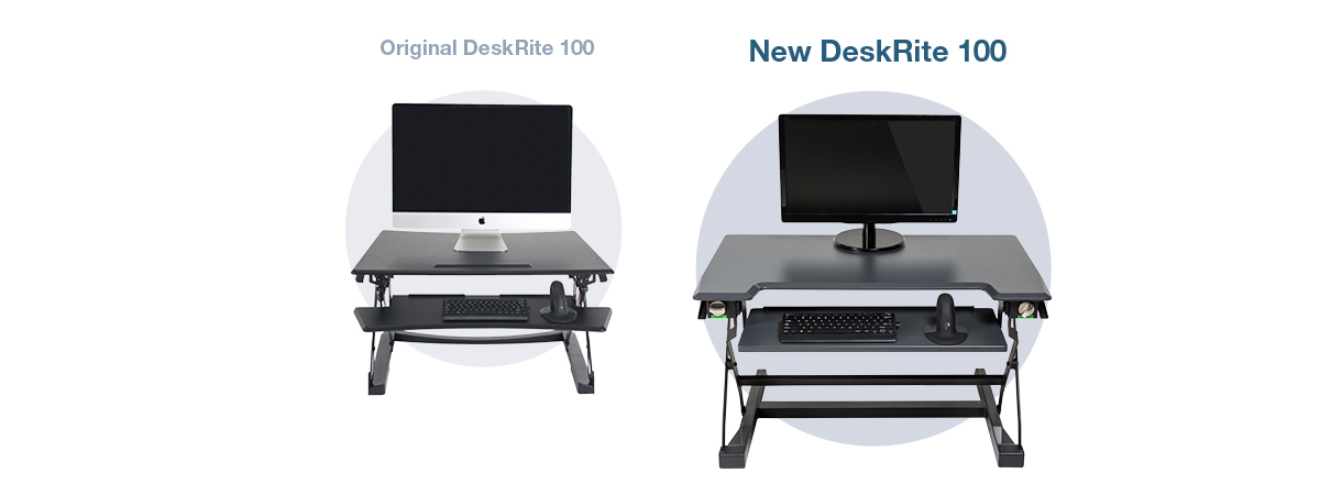 Discover new features on the upgraded DeskRite 100
