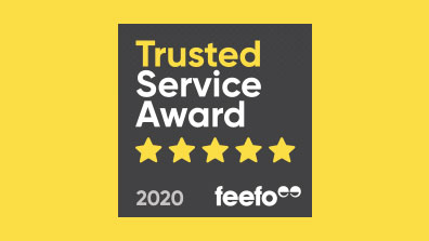 Real, positive customer feedback wins us Feefo Trusted Service Award