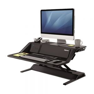 Lotus™ DX Sit-Stand Workstation - Black