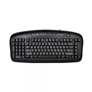 Black Left-Handed Keypad Keyboard - birdseye view