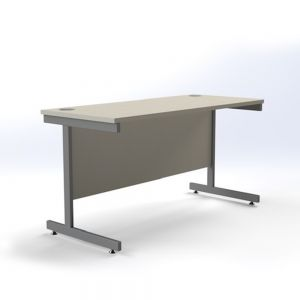 Cantilever Fixed Height Desk - 1200 mm width - White/Silver