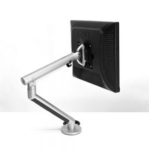 CBS Flo Single Monitor Arm for Opløft (Silver) - side/rear view