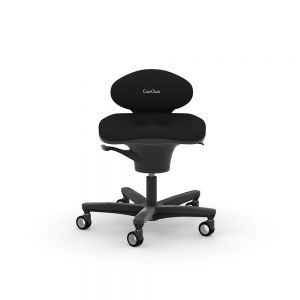 CoreChair Task Chair - Black - front view