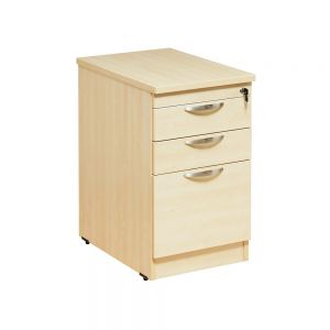 Desk Height 3 Drawer Pedestal - Maple
