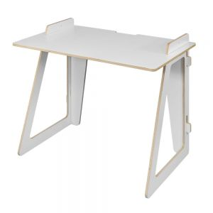 Smart Slot Fixed Height Homeworking Desk - bottom section, angle view
