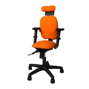 Adapt 200 Chair - with arms & headrest - front/side view