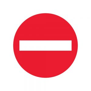 No Entry Sign Floor Stickers