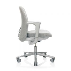 HAG SoFi 7220 Silver Frame Medium Back Task Chair - Light Grey