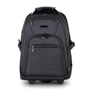 "Heavee 15.6"" Laptop Backpack Trolley in Black - front view"