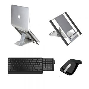 Slim Cool Laptop Stand, Number Slide Keyboard & Arc Touch Mouse