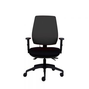 Positiv P-Sit High Back Ergonomic Chair - black - front view