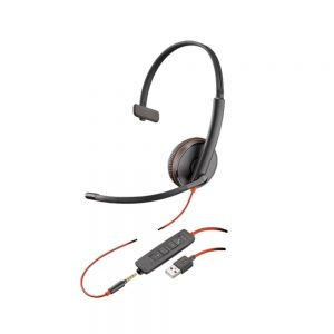 Plantronics Blackwire C3215 Monaural USB/3.5mm Headset
