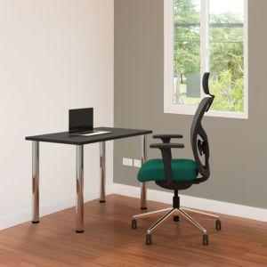 Positiv Homeworker Desk (Screw In Legs) - Black - lifestyle shot
