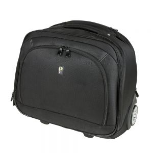 Posturite Executive Laptop Trolley Case - Front Angle closed