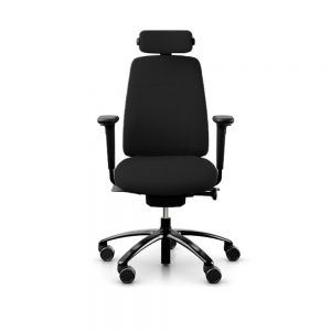 RH New Logic 200 Medium Back Ergonomic Office Chair - front view, with armrests & neckrest