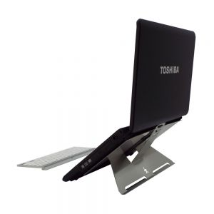 """Shadow 15"""" - 15.6"""" Laptop Stand - side view showing stand in higher position"""