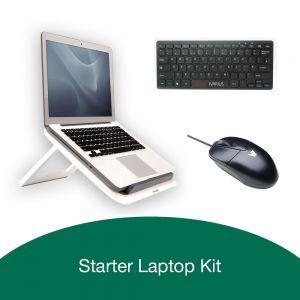 Starter Kit: I-Spire Series™ Laptop Quick Lift, Piano Mini Keyboard & V7 Optical Mouse