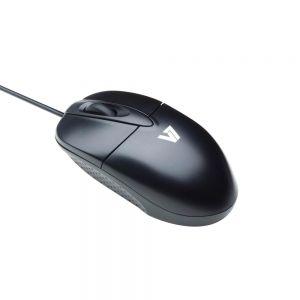 V7 Standard USB Optical Mouse - Black