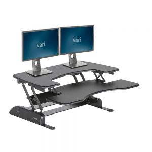 DeskRite 100 Sit-Stand Platform - Medium - Standing Position with Monitor