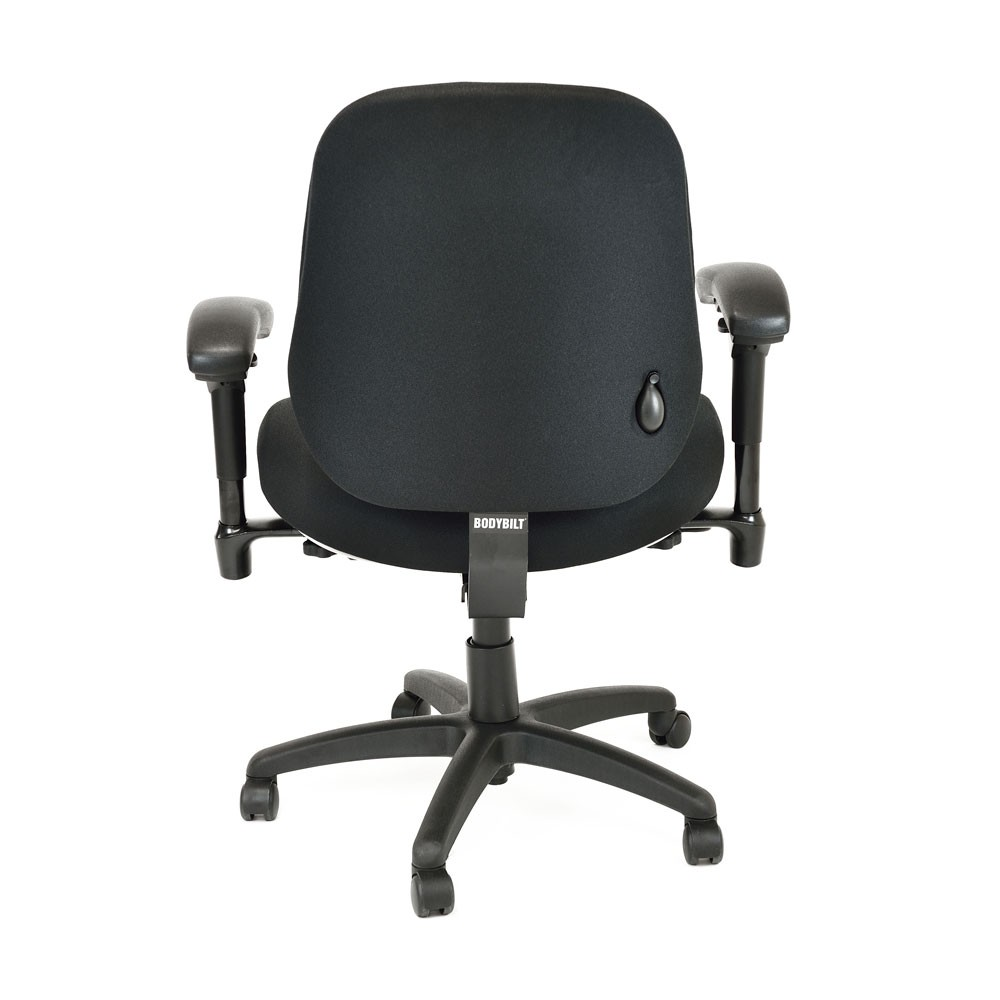Office chair back view -  Bodybilt B2503 Bariatric High Back Chair With Arms Back View
