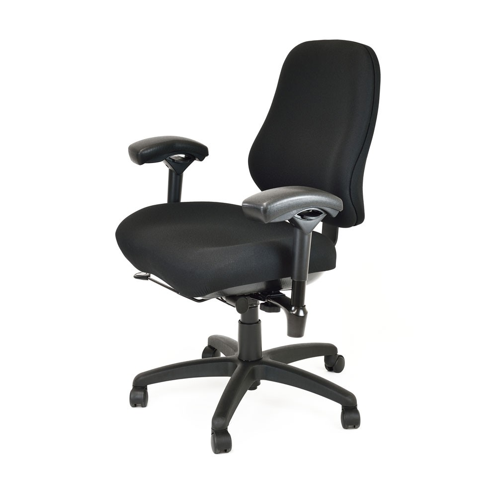 Office chair back view -  Bodybilt B2503 Bariatric High Back Chair With Arms Side View