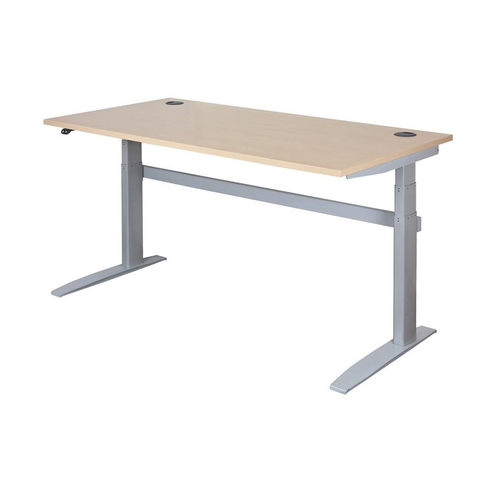 ... DeskRite 500 Electric Sit Stand Desk   Maple ...