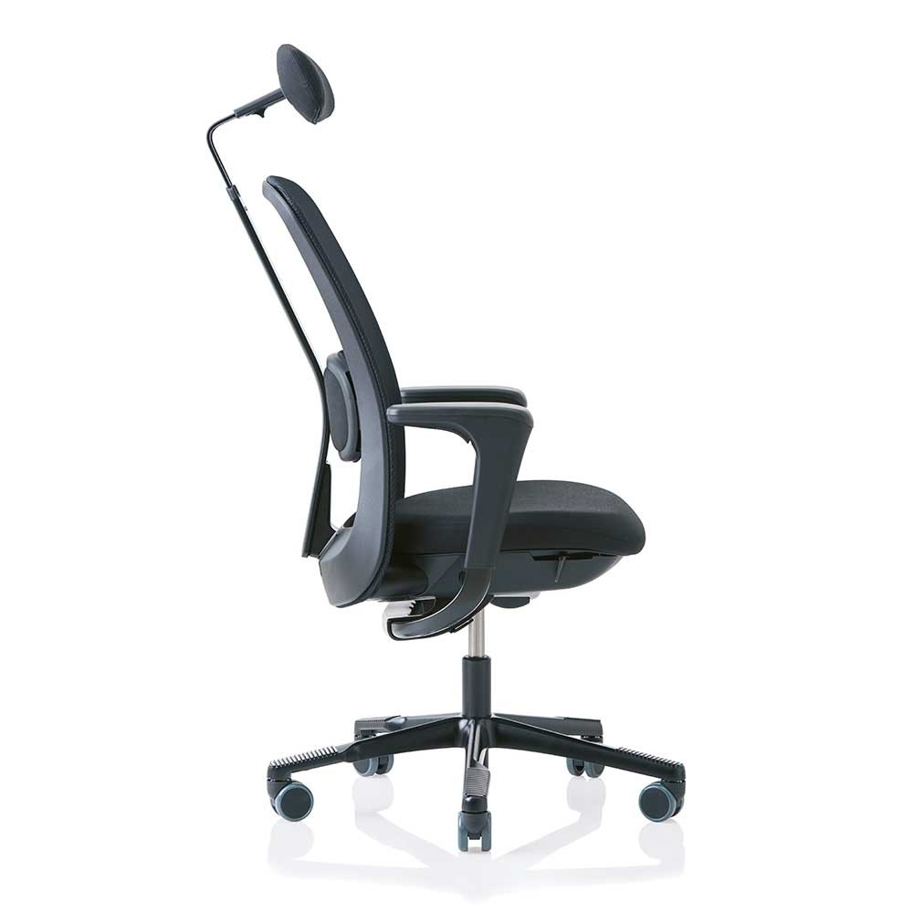... HAG SoFi 7510 Black Frame Mesh High Back Task Chair - back side angle with headrest ...  sc 1 st  Posturite & HAG SoFi 7500 Task Ergonomic Chair from Posturite