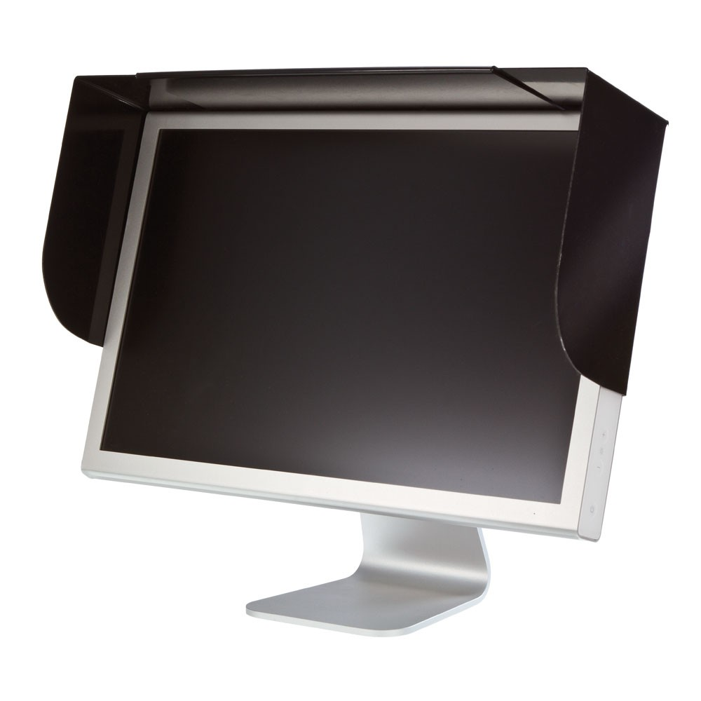 Adjustable Anti Glare Screen Hood For Flat Screens From