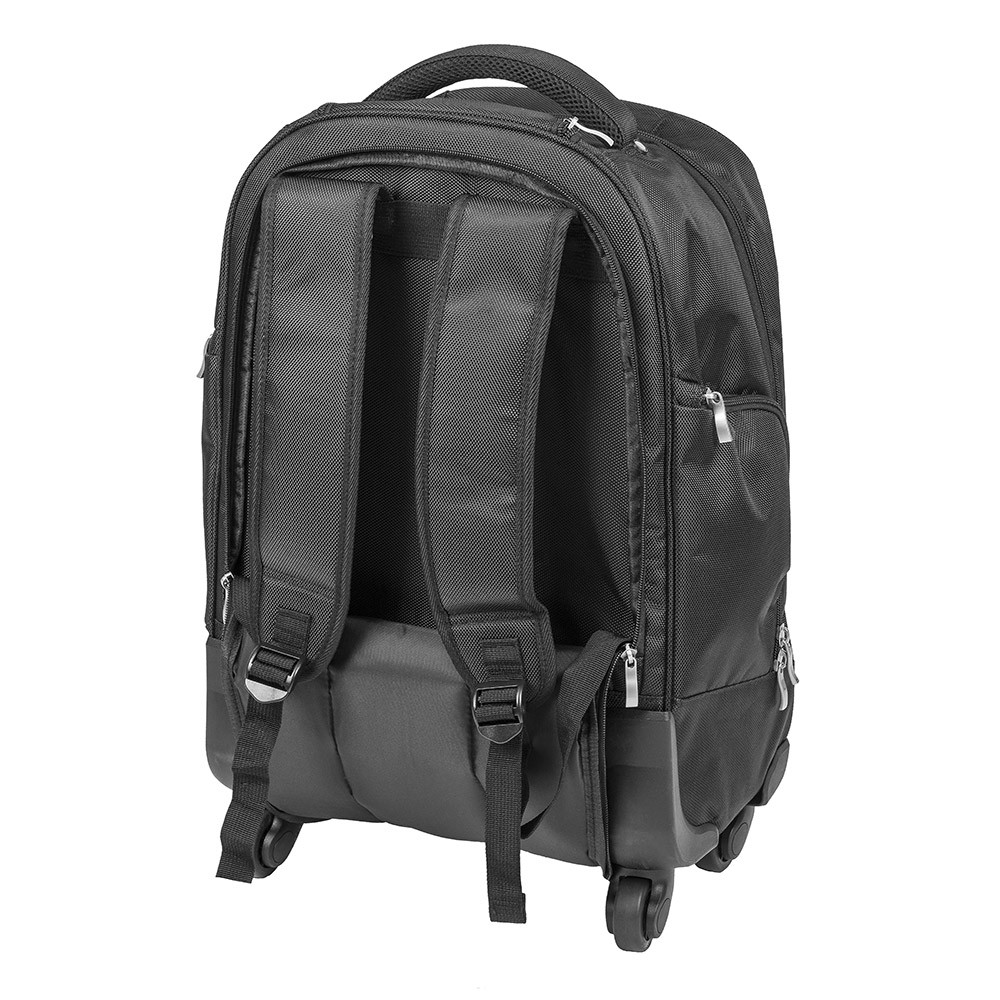 365316a2679c2 ... Posturite Executive 4 Wheel Trolley Backpack - back view with straps ...