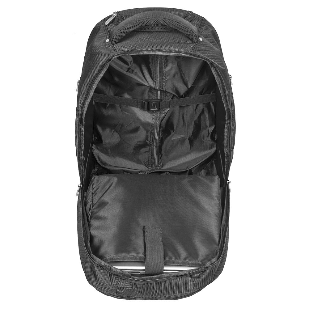 f06f064875a74 ... Posturite Executive 4 Wheel Trolley Backpack - open view