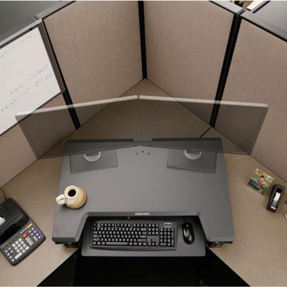Ergotron Workfit T Sit Stand Desk Converter Posturite