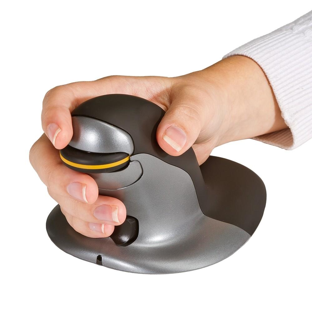 a0048782ec1 ... Penguin Ambidextrous Vertical Mouse - showing hand grip ...