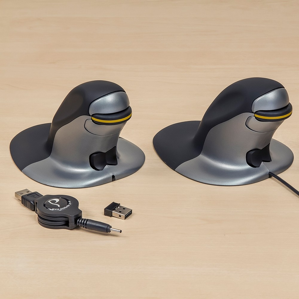 ffc91ff1322 ... Penguin Ambidextrous Vertical Mouse - wired & wireless versions ...