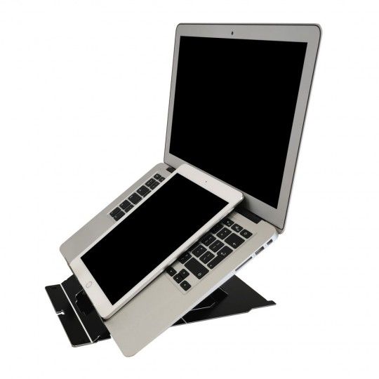 TIO Laptop/Tablet Stand - showing laptop and tablet together