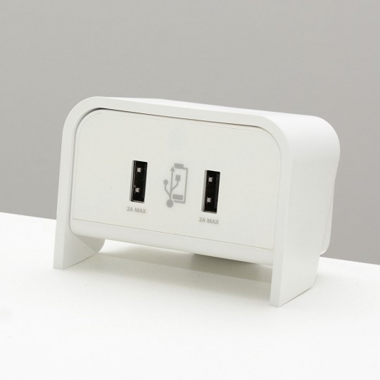 Chip Desktop USB Charger - White - close up