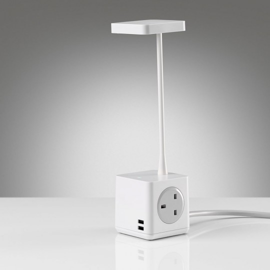 Cubert Desk Light - showing plug & USB ports