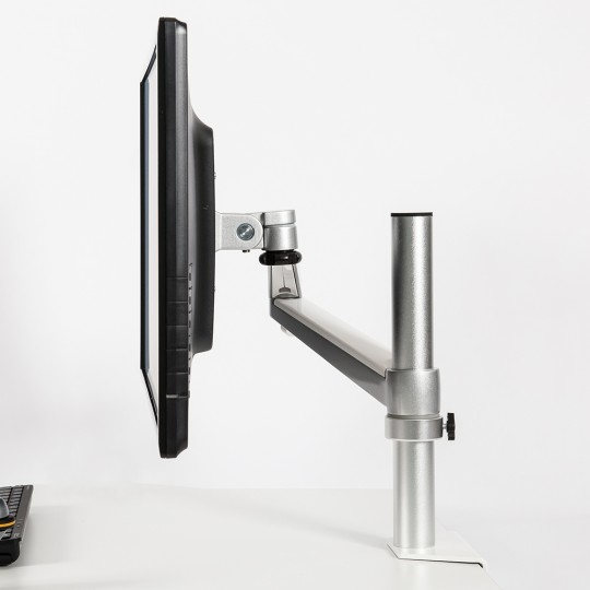 DeskRite 100 Single Monitor Arm - side view