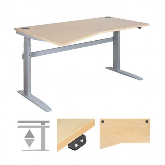 DeskRite 500 Electric Height Adjustable Desk - Left Wave