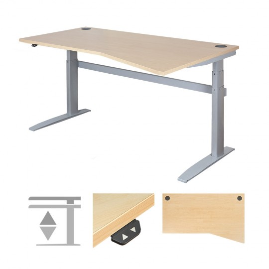 DeskRite 500 Electric Height Adjustable Desk - Right Wave