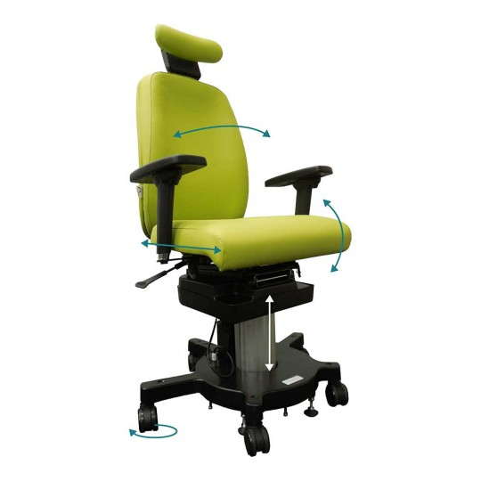 AdaptLift Chair - with arms & headrest - front/side view