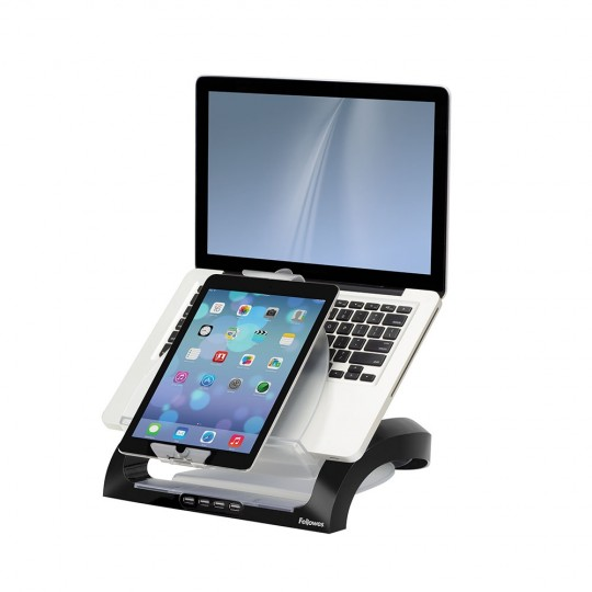 Smart Suites™ Multimedia Workstation - side view with devices